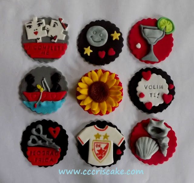 Torturi artistice: Cupcakes with special messages