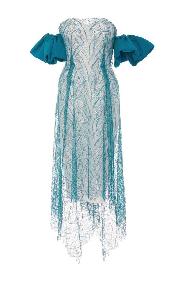 2017 Eve Strapless Lace Overlay Dress by Emilio de la | Moda Operandi…