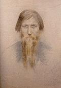 Portrait of Grigory Rasputin by Yelena Klokacheva