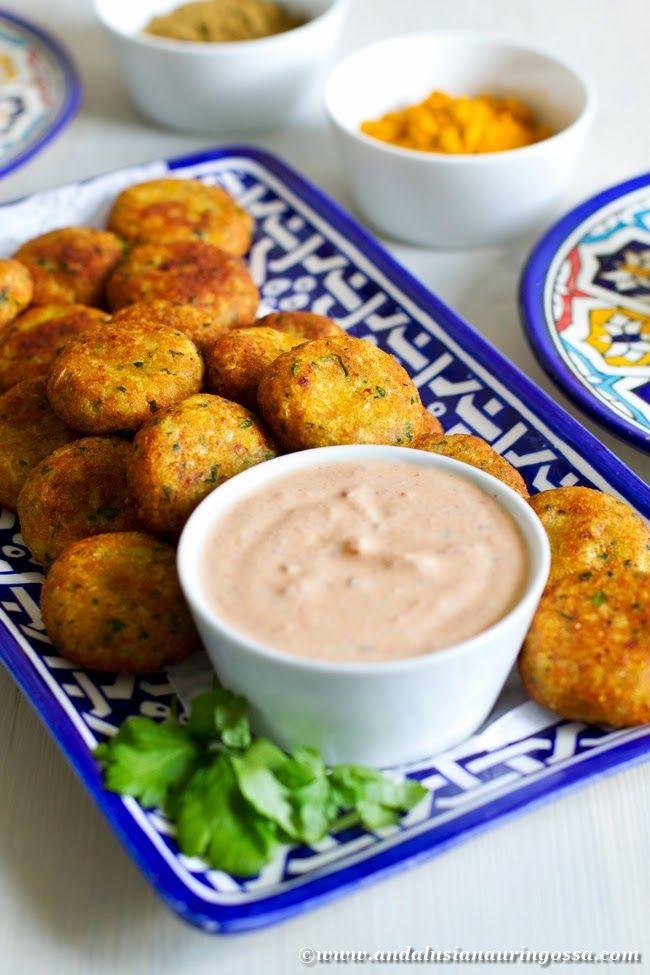 Tunisian fish kefta with harissa and yogurt dressing