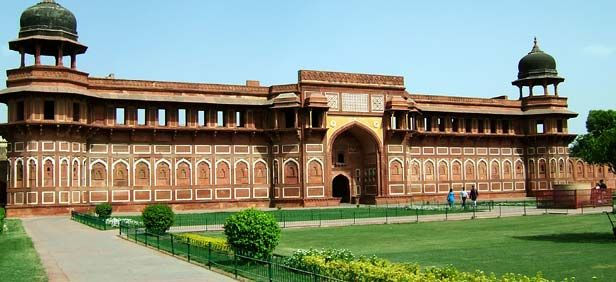 The Red Fort of Agra, it encloses the palatial residence of the Mughal kings and the state treasury and mint. Originally the residence of the Chauhans, the fort was seized by Mahmud of Ghazni in the 12th century, and later occupied by Sikander Lodi in 1506..!!.