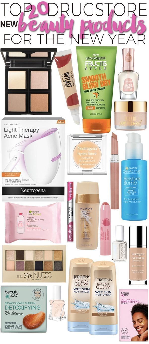 Top 20 New Drugstore Beauty Products to Try in the New Year.