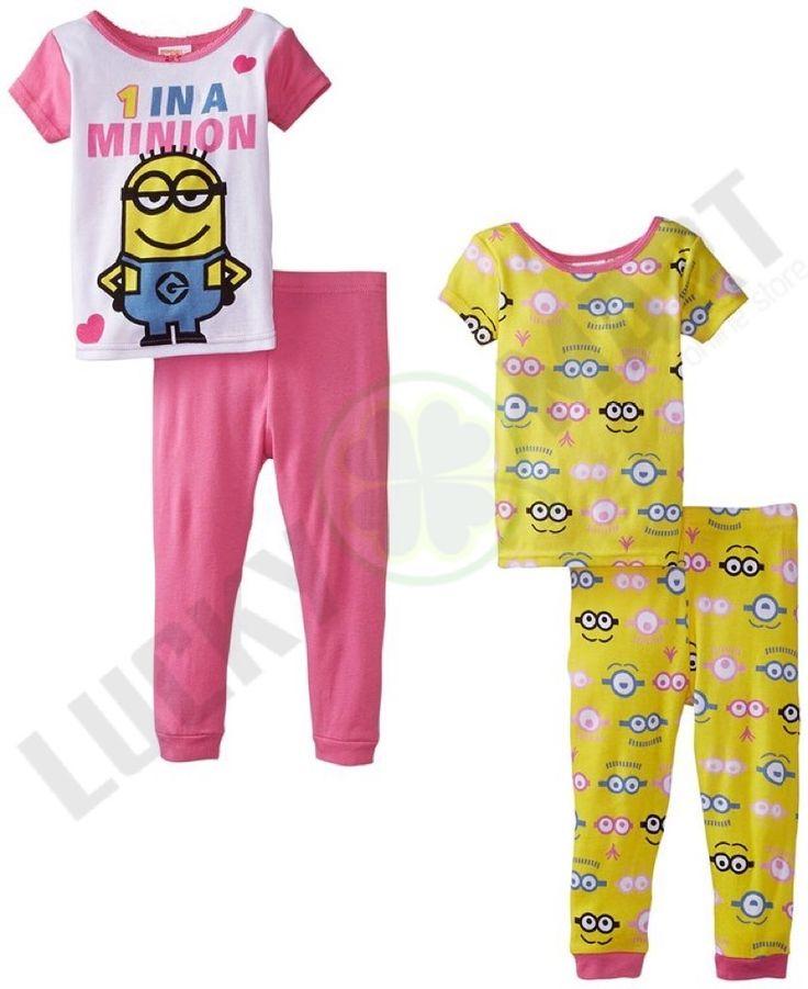 Set De 2 Pijamas Minions P/ Niñas Manga Corta. Varias Tallas - $ 790.00 en MercadoLibre