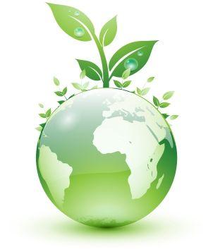 shiny green world