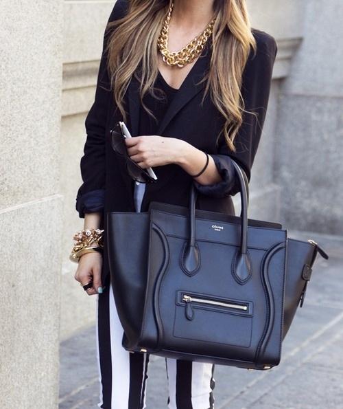 celine hand bag - celine luggage bag in black