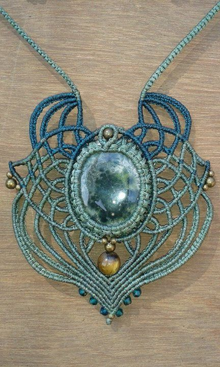Moon Dreams macrame pendant