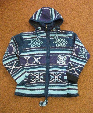 Aztec Design Heavy Knit Sweater – Real Wool Shop