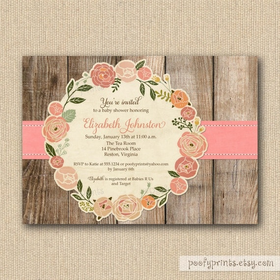 rustic baby shower invitations dance pinterest