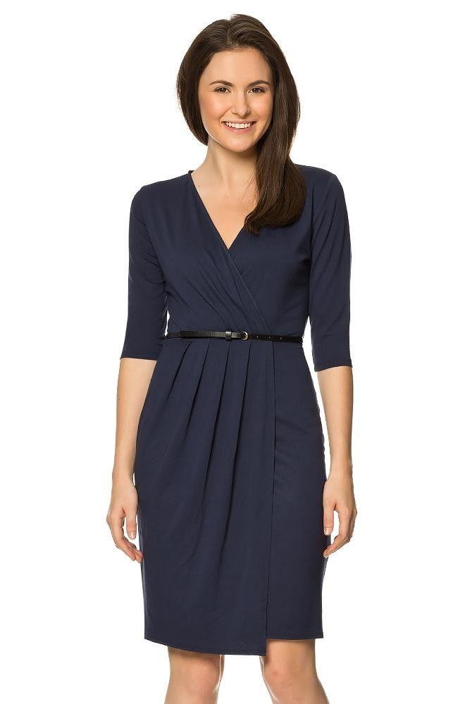 SUKIENKI | Jerseyowa sukienka kopertowa | ORSAY