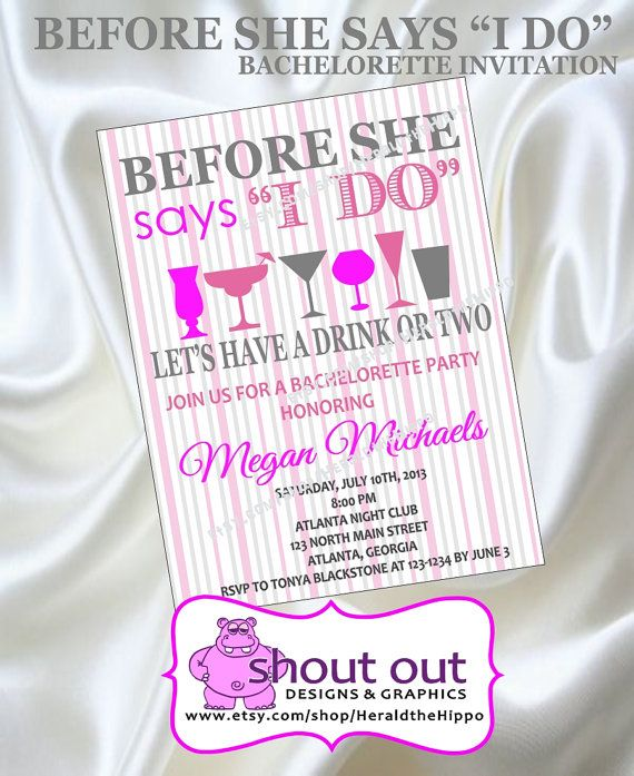 100 best hen do ideas images on pinterest hen night ideas cute wordingidea for bachelorette party invites before she says i do by heraldthehippo stopboris Image collections