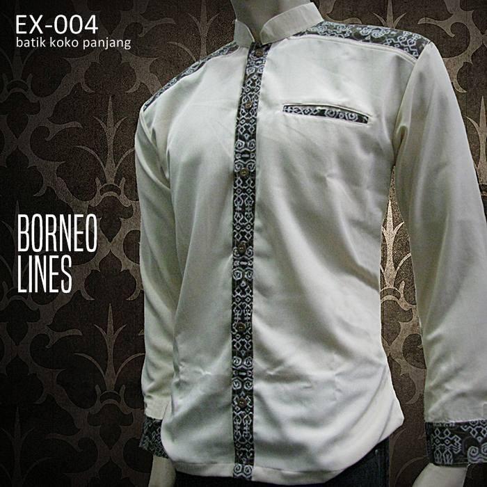 Batik Kombinasi Eksklusif EX-032 (PUTIH)