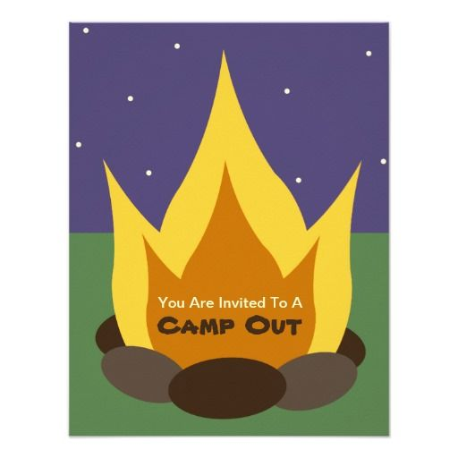 261 best camp out invitations images on pinterest lyrics shops camp out invitation camp fire stopboris Image collections