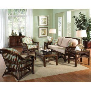 Lucia Wicker Living Room And Sunroom Suite From Hospitality Rattan