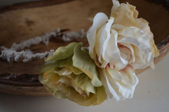 A Vintage Touch Flower Crown-Adjustable To by lovespuncreationsJL