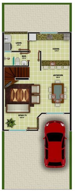 Cabañas duplex de construcción económica pequeñas con garaje
