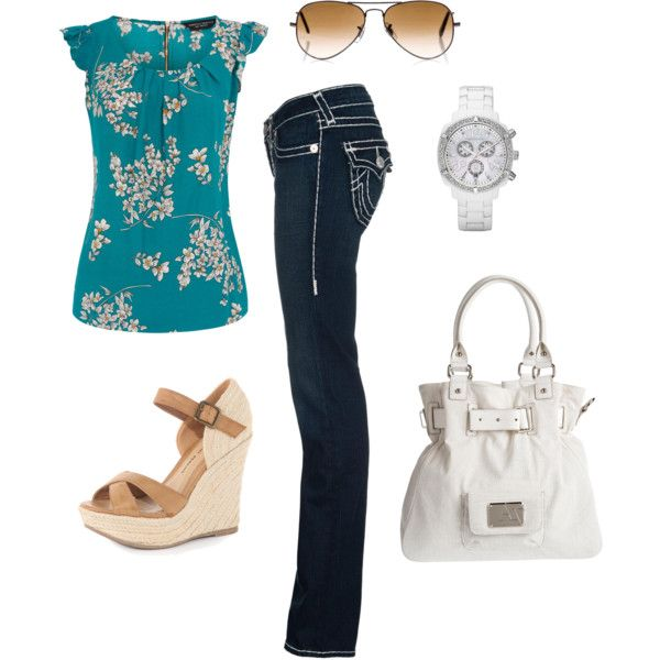 Flirty Floral, created by fleurdelove on Polyvore