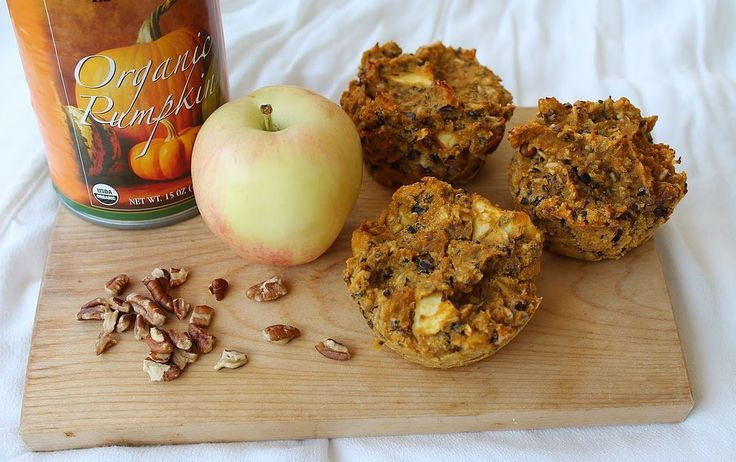 Pumpkin Muffins With Apples and Pecan