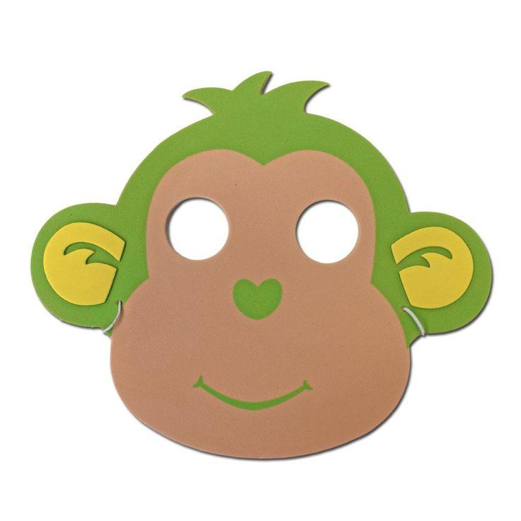 Childrens Masks - Green Monkey Childrens Foam Animal Mask