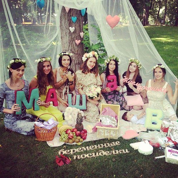 Baby shower пикник. Ко мне пришли сегодня самые красивые девочки, вышло солнышко) я просто счастлива находится в таком раю)) #Padgram