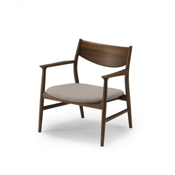 Kamuy Lounge Chair - Walnut + Grey Upholstery