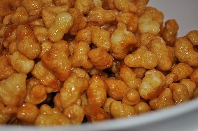 Old Dutch Caramel Puff Corn - One of our holiday favorites. Easy to make and super yummy.