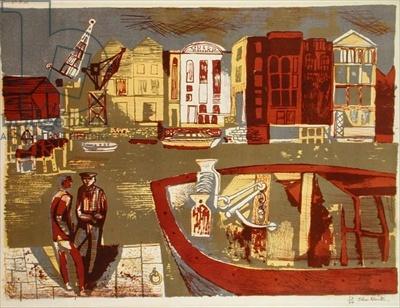 "John Minton's ""Thames-Side,"" 1948"