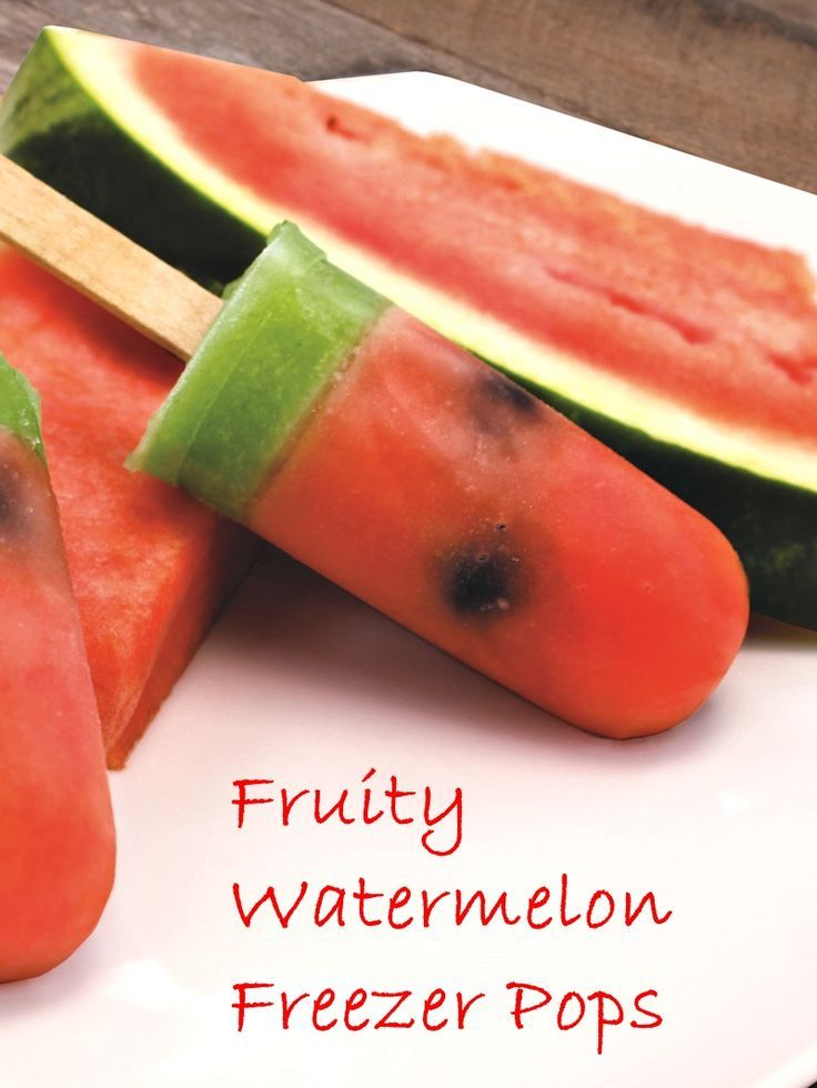 Watermelon, Lemonade, And Blueberry Ice Pops Recipe — Dishmaps