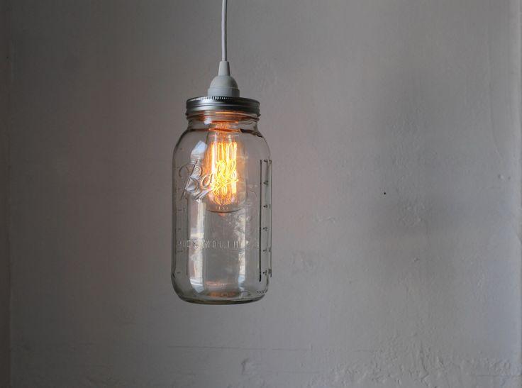 mason jars lighting. mason jar pendant lamp large half gallon hanging lighting fixture upcycled rustic jars