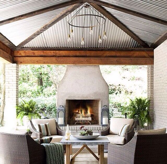 Tin ceiling outdoor room, for our car port that will hopefully turn into our outdoor living space.