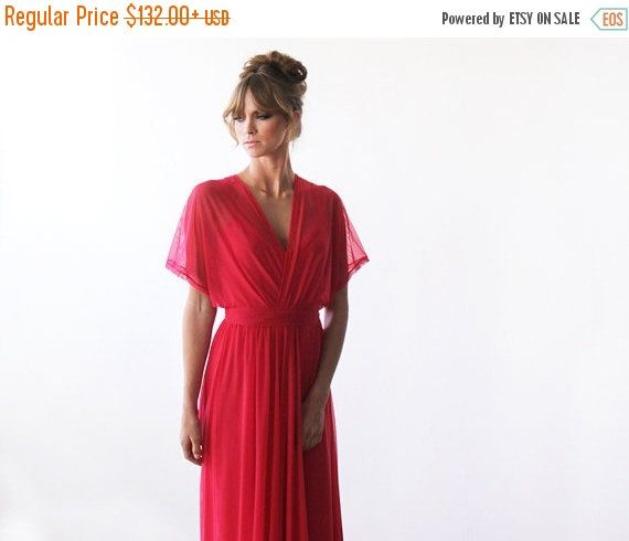 Hey, I found this really awesome Etsy listing at https://www.etsy.com/ca/listing/195537183/coral-maxi-sheer-chiffon-dress-with-bat