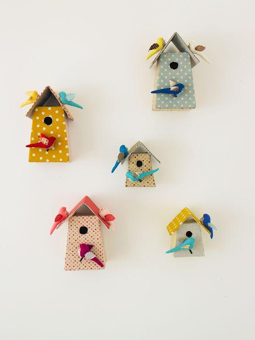 fabric bird houses