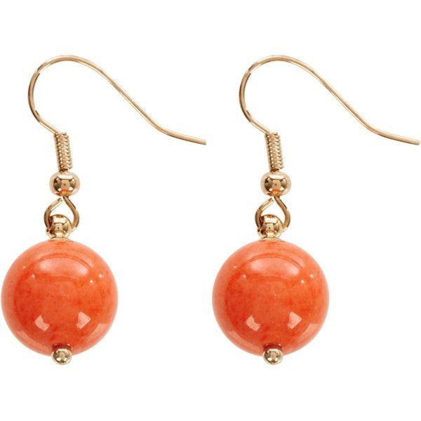 Warehouse Ball Drop On Fish Hook Earrings ($8.39) ❤ liked on Polyvore featuring jewelry, earrings, warehouse jewellery, earring jewelry, fish hook earrings, fish hook jewelry and coral jewelry
