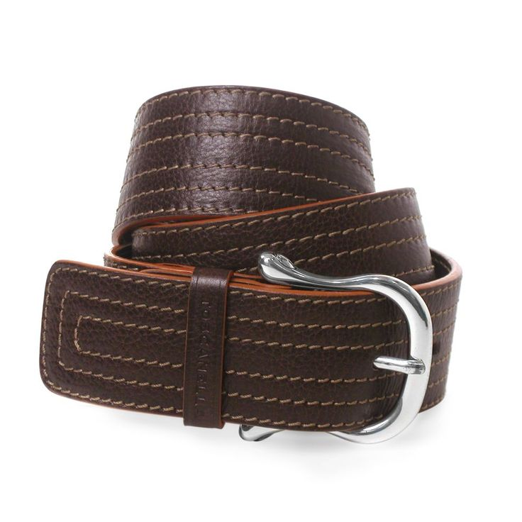 Men's Wide Italian Leather Belt from Toscanella