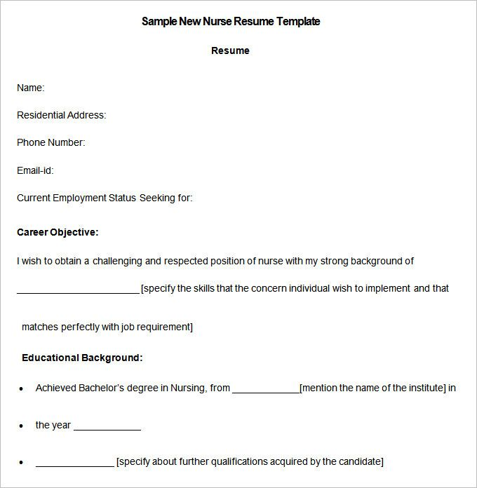 Sample Of Nurses Resume Nursing Resume Template U2013 Free Samples, Examples,  Format .  Free Nursing Resume Templates