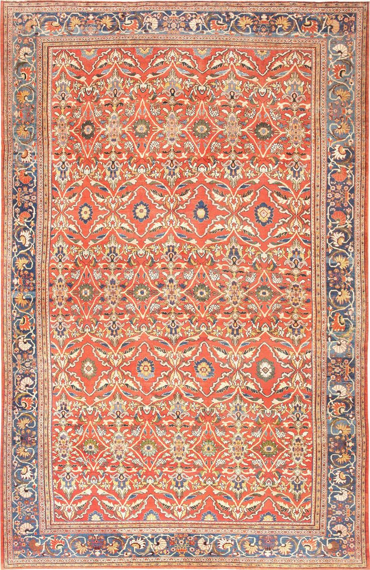 Antique Persian Sultanabad Rug, Country Of Origin / Rug Type: Persian Rugs,  Circa Date: 1900 15 Ft X 24 Ft M X M)