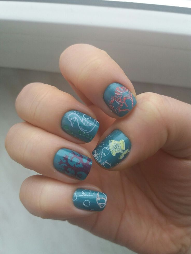 Under the water nails