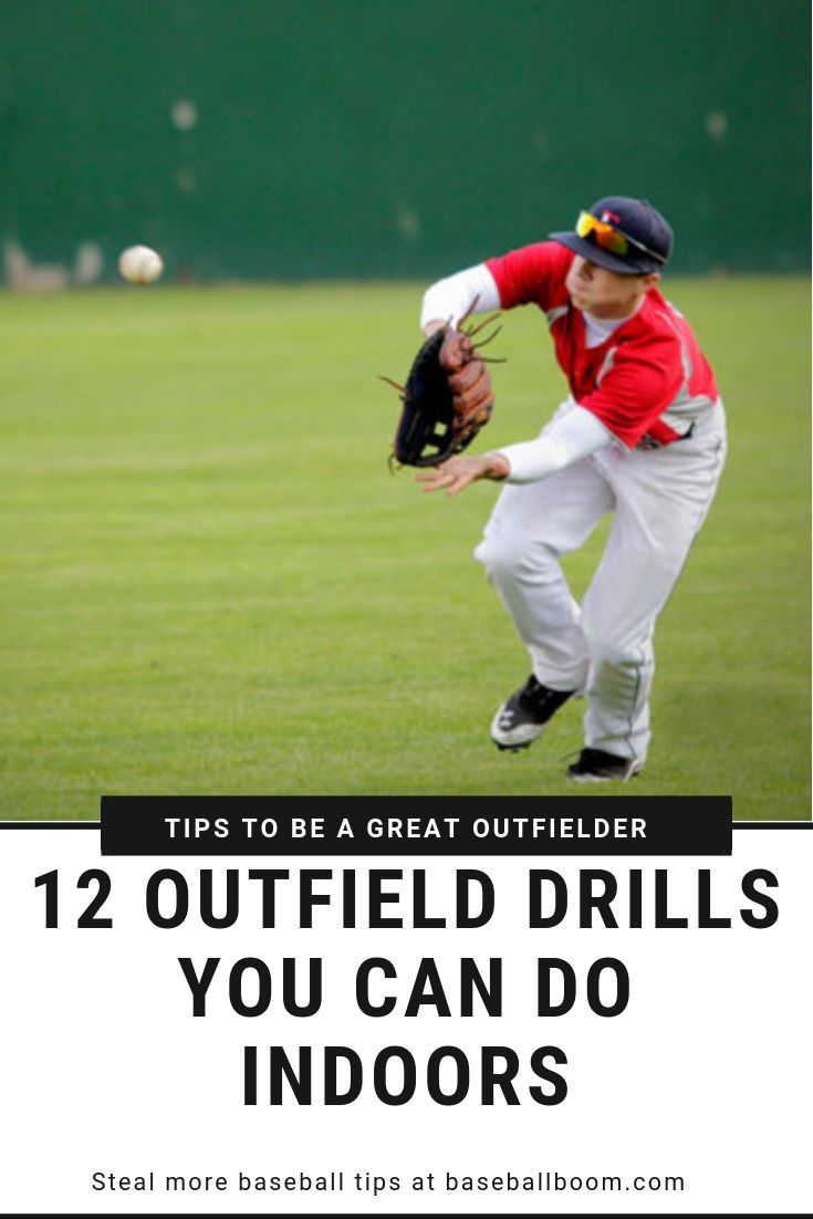 12 Outfield Drills You Can Do Indoors Baseball Training Kids Softball Workouts Baseball Workouts