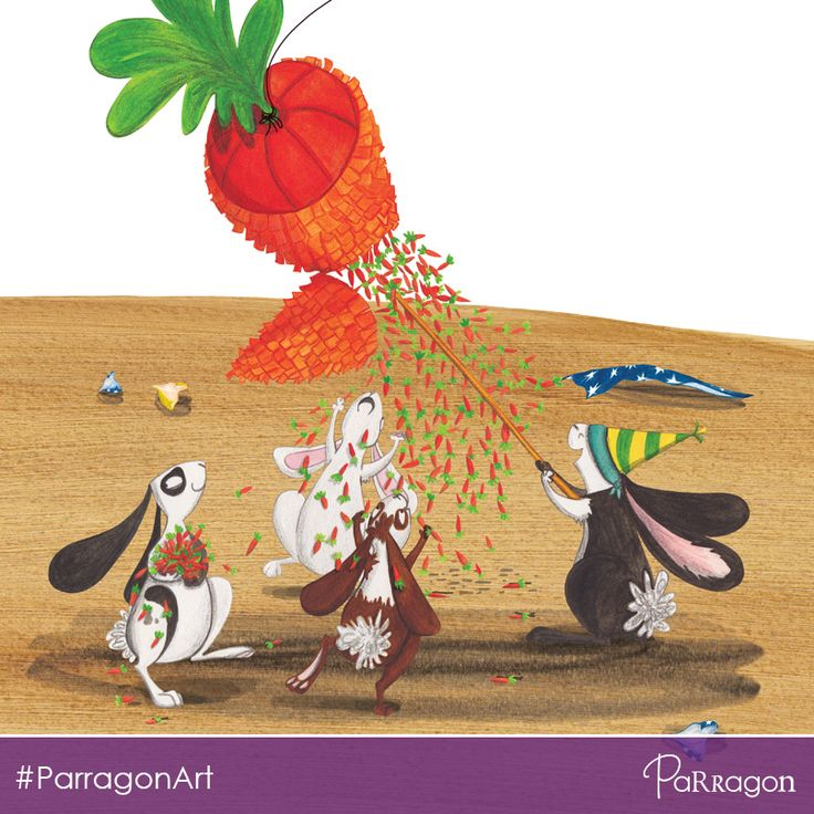 This cute party scene is from our #PictureBook 'One More Rabbit' by #illustrator #EmmaLevey #ParragonArt #kidlitart