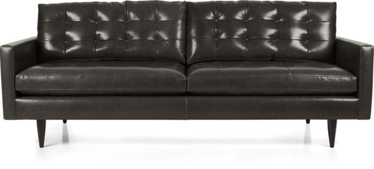 sofas crates barrels forwards petrie leather sofa crate and barrel