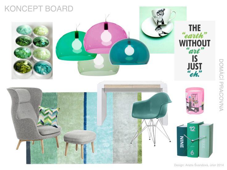 Home Office concept board by DesignAny, conceptboard