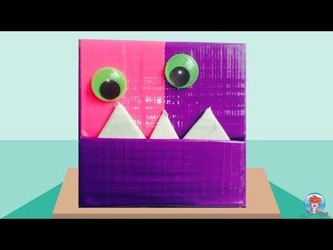 Monsterdoos (sieradendoos) knutselen met karton en duct tape. Ik laat je in het filmpje zien hoe je een juwelendoosje kan maken in de vorm van een monstertje met behulp van karton en duct tape.