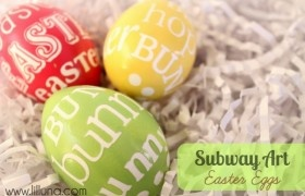 Subway Art Easter Eggs