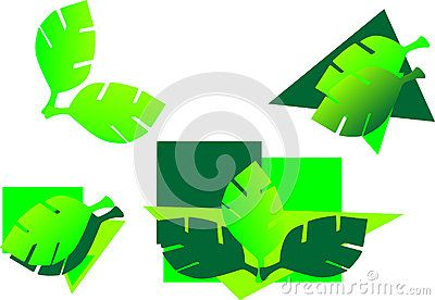Vector logo elements green gradients.