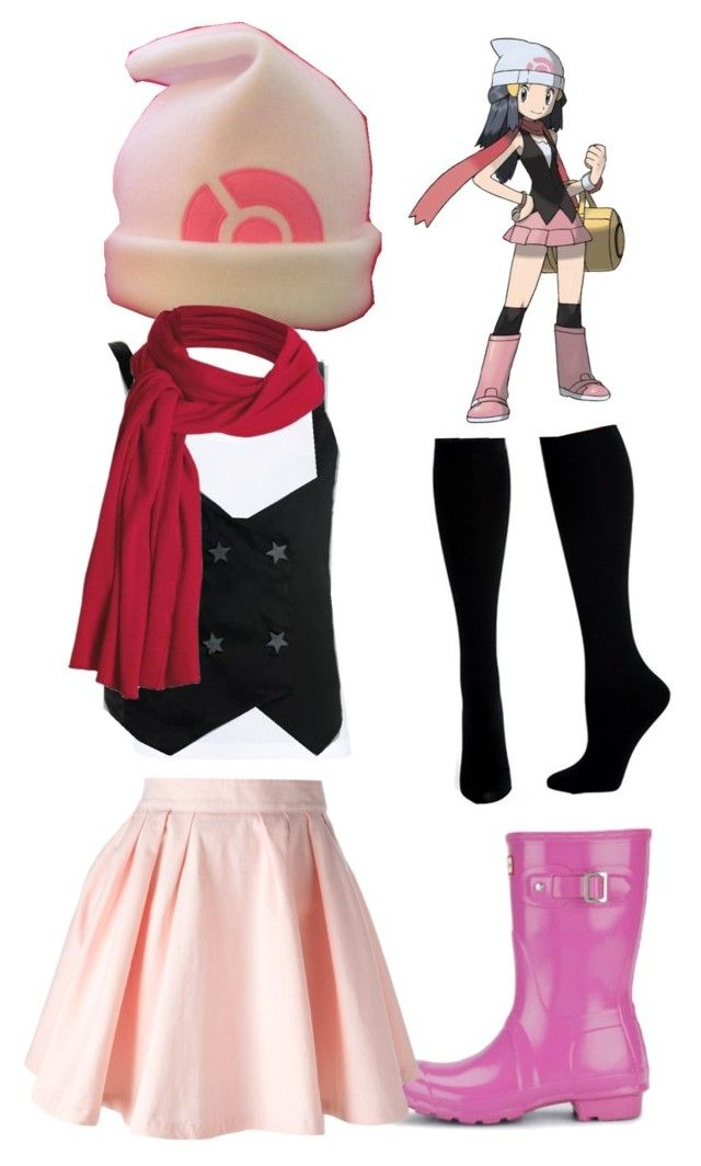 """Dawn Pokemon trainer outfit"" by theathecat ❤ liked on Polyvore featuring Hue, ONLY, JSG, Hunter, Maison About, Nerdy and Pokemon"