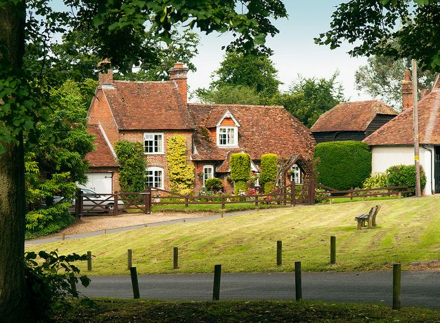 A pretty house by Alderbury Green in Hampshire by Anguskirk, via Flickr