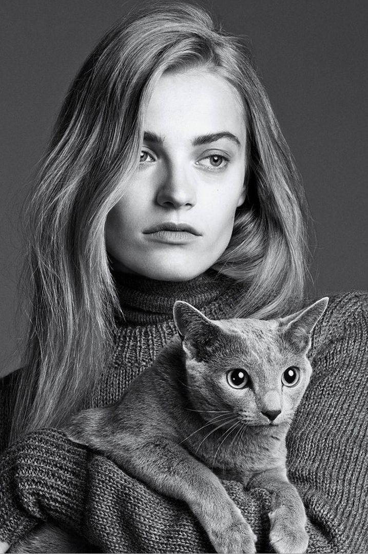 the gray lady: anna jagodzinska by lachlan bailey for wsj september 2014 hair by Rudi Lewis