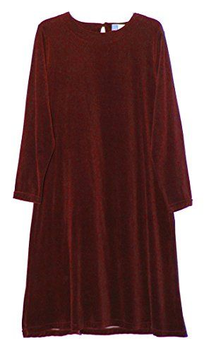 La Cera Velour Dress Large Burgundy -- Find out more about the great product at the image link.