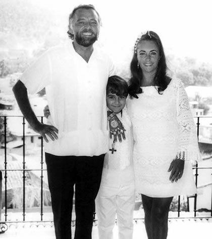 Sergio Toledano, Richard Burton & Elizabeth Taylor, photo shot at their villa in the Gringo Gulch in Puerto Vallarta.
