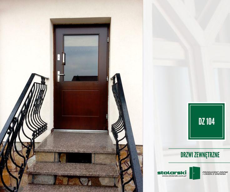 Drzwi zewnętrzne MODEL DZ 104 #drzwidrewniane #drzwizewnetrzne #door #wood #stolarnia #drzwimarzeń #realizacje www.stolarski.com.pl