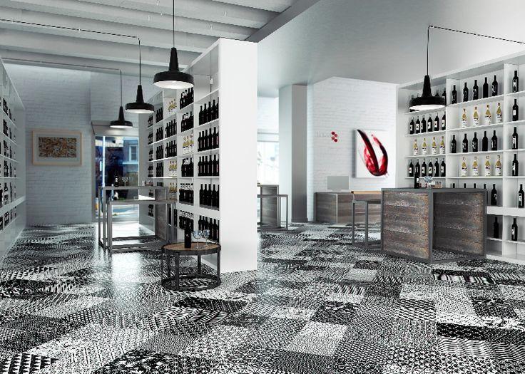 Vintage Black tile trend: Moving series by Aparici #tile